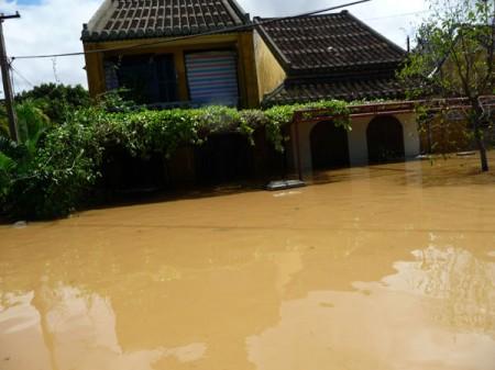 Nhà cổ trong lũ lụt