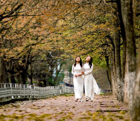 Nữ sinh và mùa thu