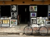 Bicycle and paintings